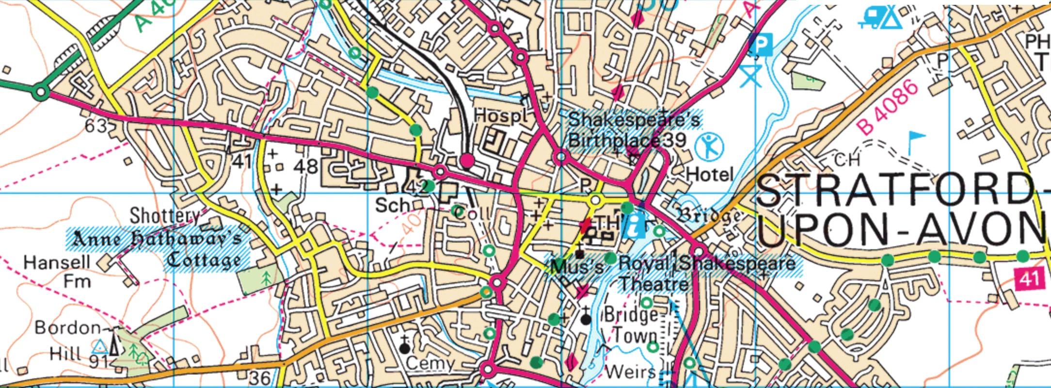 shakespeare map