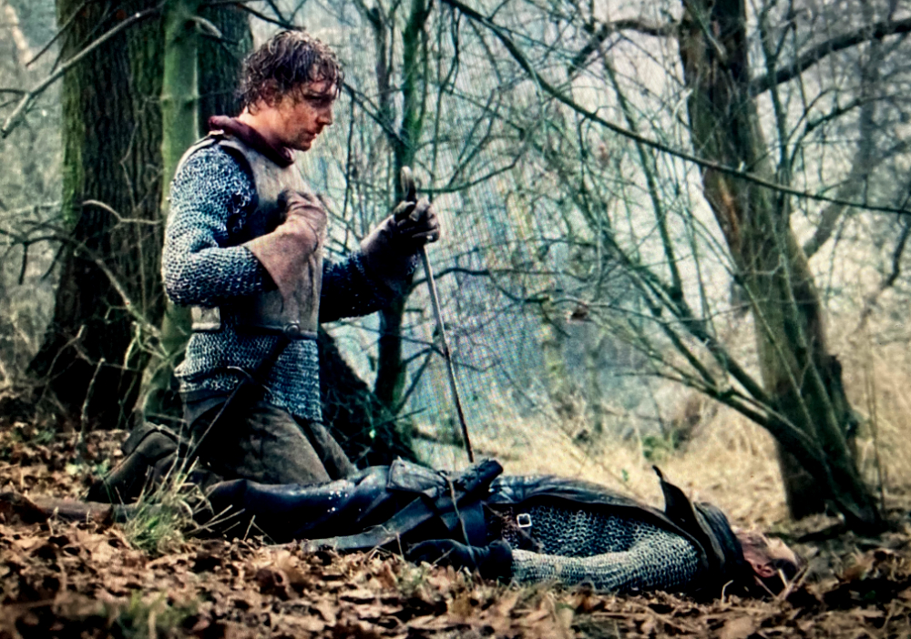 Prince Hal pays tribute to his fallen enemy, Hotspur, in he Hollow Crown version of the play.